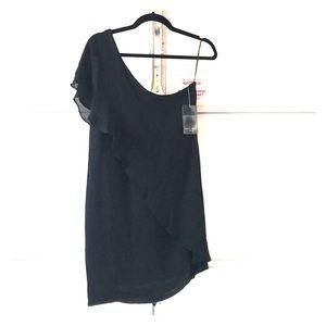 Zara one shoulder black dress medium